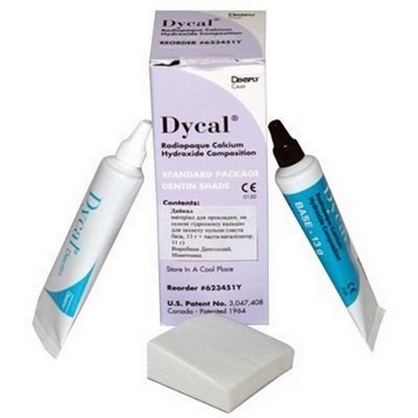 Лечебная прокладка Dycal Dentin Shade (база 13 г + катализатор 11 г)